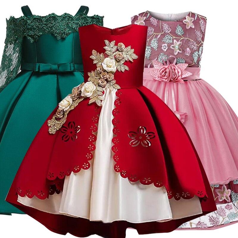 2019 Summer Girls Dress Kids Dresses For Girls Elegant Party Princess Dress For Girl