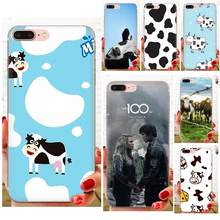 Nice Phone Cases Animal Cute Cow Face For Samsung Galaxy Note 5 8 9 S3 S4 S5 S6 S7 S8 S9 S10 5G mini Edge Plus Lite(China)