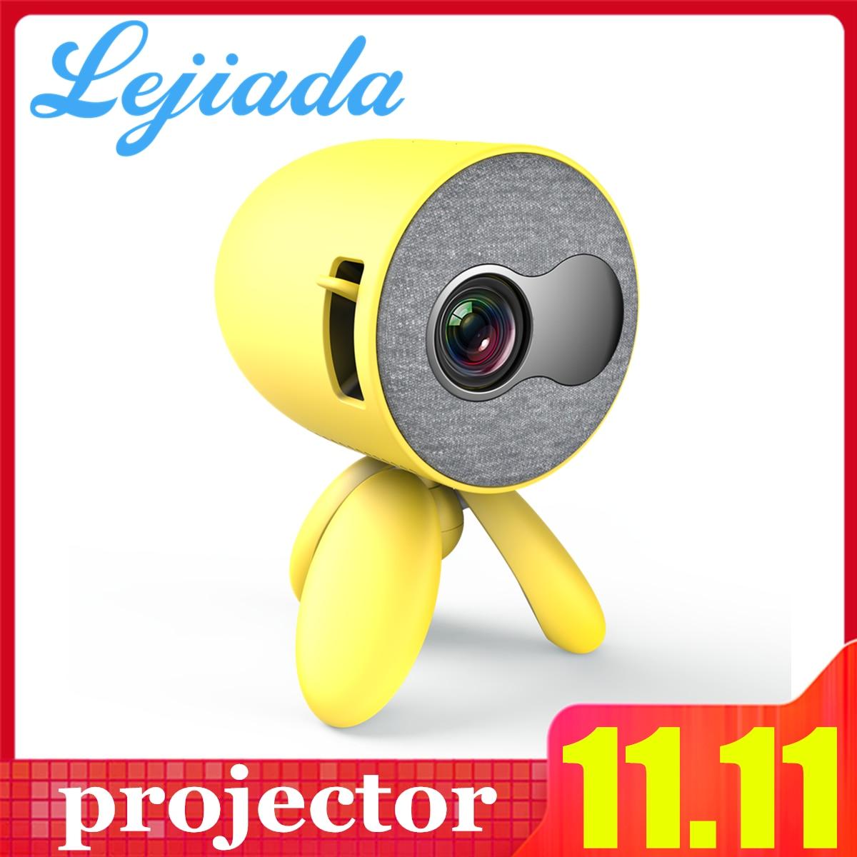 LEJIADA YG220 Mini projecteur 480*272 Pixels prend en charge 1080P HDMI USB Portable poche mignon projecteur lecteur vidéo enfants cadeau