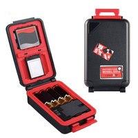 Câmera caixa de armazenamento de bateria à prova dwaterproof água para canon LP E6 sony NP FZ100 nikon EN EL15 caso de bateria sd cf cartão de memória cl|  -