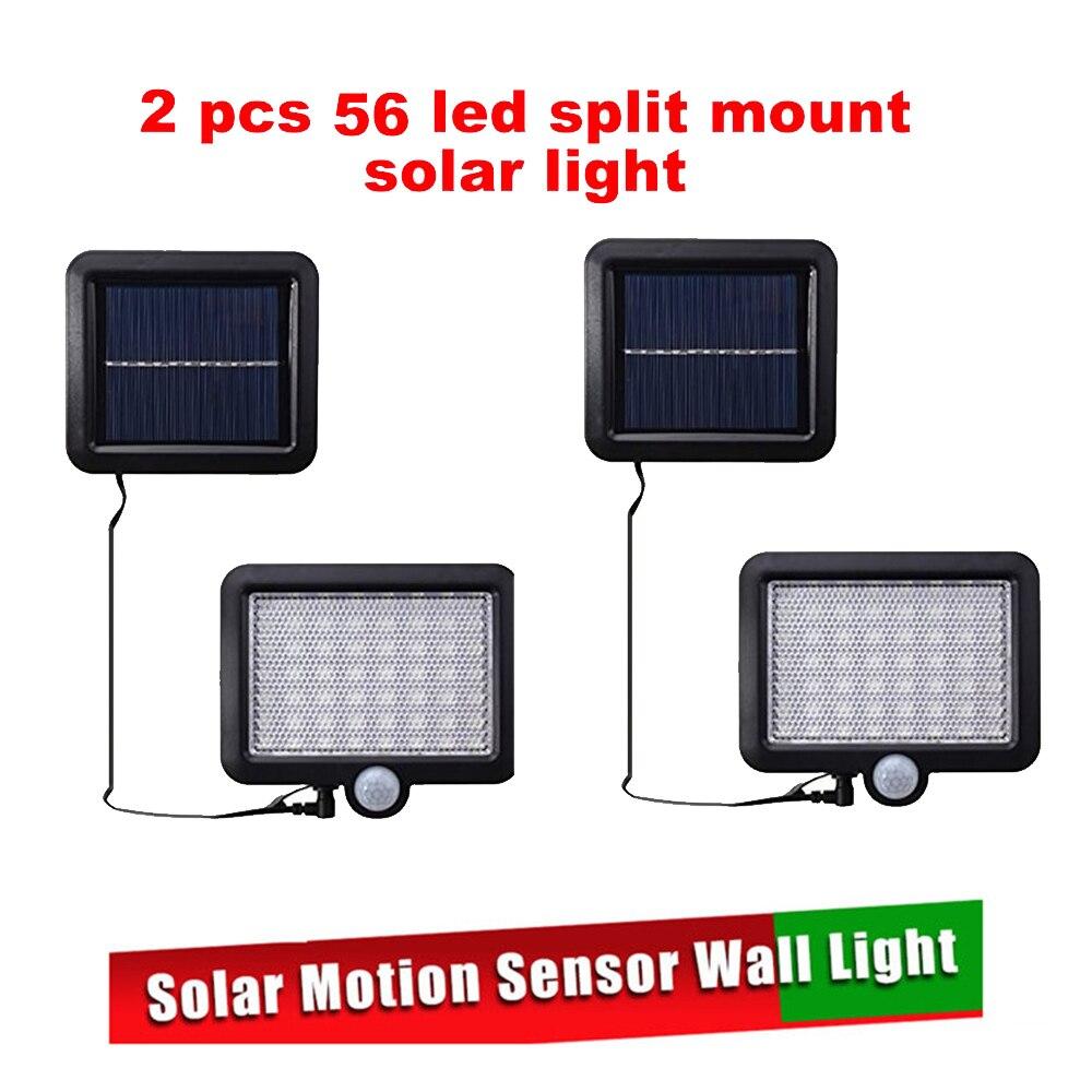 2/4pcs Outdoor LED Solar Wall Lamp Night Light PIR Motion Sensor Auto ON/Off Waterproof Porch Path Street Garden Security Lighti