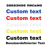 Decalques de texto personalizado para a etiqueta do carro traseiro windshield moto adesivos suporte para línguas nacionais etiqueta reflexiva
