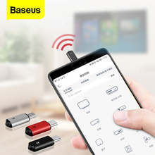 Baseus מיני Keychain שלט רחוק עבור סמסונג Huawei סוג C USB C ממשק חכם IR בקר מתאם עבור טלוויזיה מזגן