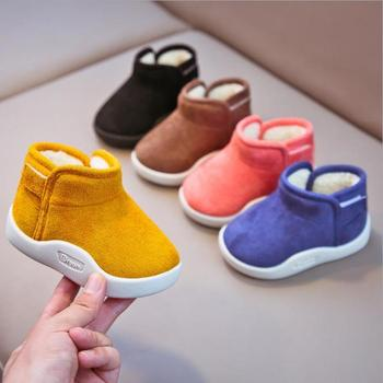 Infant Toddler Boots 2020 Winter Baby Girls Boys Snow Boots Warm Plush Outdoor Soft Bottom Non-Slip Children Boots Kids Shoes baby girls boys boots 2020 winter infant toddler snow boots warm plush outdoor boots soft bottom non slip kids cotton shoes