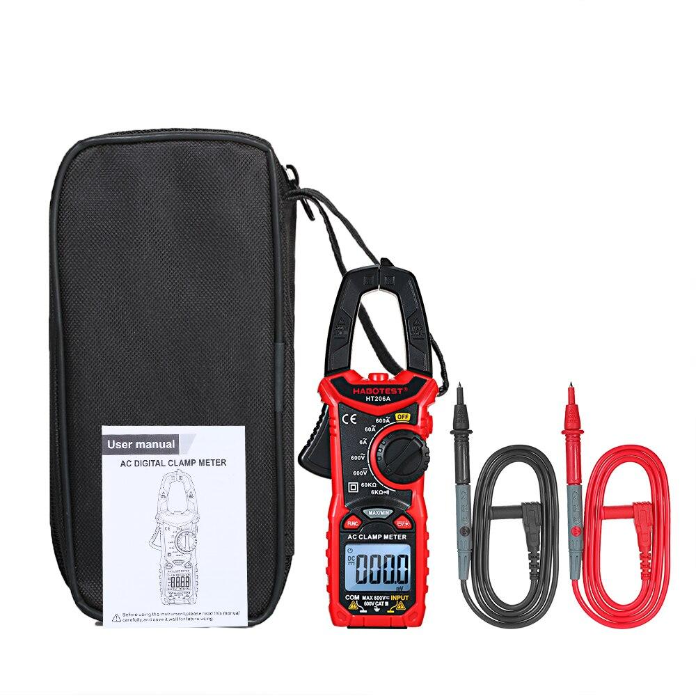 HABOTEST HT206A/HT206B/HT206D AC/DC Digital Clamp Meter para Medir a Tensão AC/DC, corrente AC/DC, NCV Multímetro Da Braçadeira