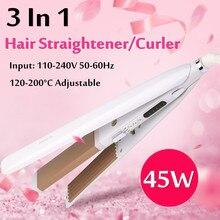 3 в 1 Электрический стайлер для волос, профессиональный Керамический выпрямитель для волос, плоский утюжок, турмалин, завивка кукурузы, завивка, стильная панель, Большая распродажа