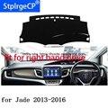 Для Honda jade 13-16  коврик для приборной панели с правым приводом  защитный коврик  черный цвет  Стайлинг автомобиля  обновление интерьера клейки...