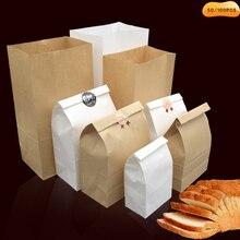 50/100 шт. тонкие крафт-бумажный мешок еды праздничные подарочные пакеты для хлеба и сэндвичей конфеты вторичной переработки вечерние сумке просохнуть упаковывая бумажный мешок