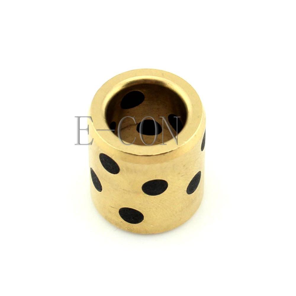 1PCS  JDB Oilless Graphite Lubricating Brass Bearing Bushing Sleeve 10x14x25mm Bearings     - title=