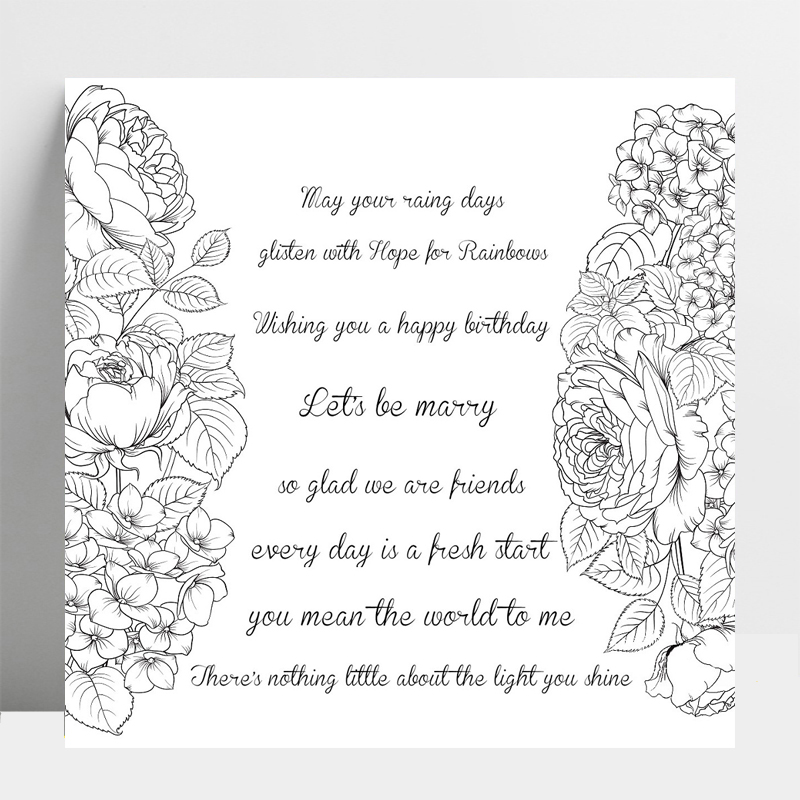 Best Friend Wishes Transparent Silicone Stamp For DIY Scrapbooking/Photo Album Decorative Card Making Clear Stamps Supplies