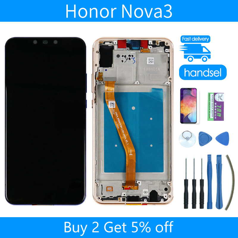 Originally Applicable For Huawei Nova 3 Screen With Touch Original 6.3 Inches Edge LCD Display Mobile Phone Mobile Touch Panel