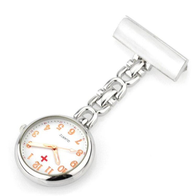 Fashion Round Dial Nurse  Medical Watch Brooch Imported Movement Women Pocket Watch Tunic Fob Watch