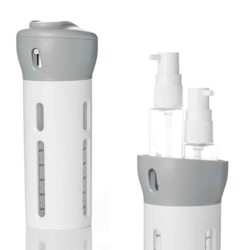 แบบพกพา 4 ใน 1 โลชั่นขวดหมุนโลชั่นแชมพูเจลอาบน้ำขวด Travel Emulsion Bottling