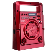 Outdoor Solar Am/Fm Radio with Led Lamp Tf Card Speaker Powe