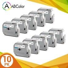 Label-Tape 12mm Black Mk 231 Mk231-Labels 10PK for on White