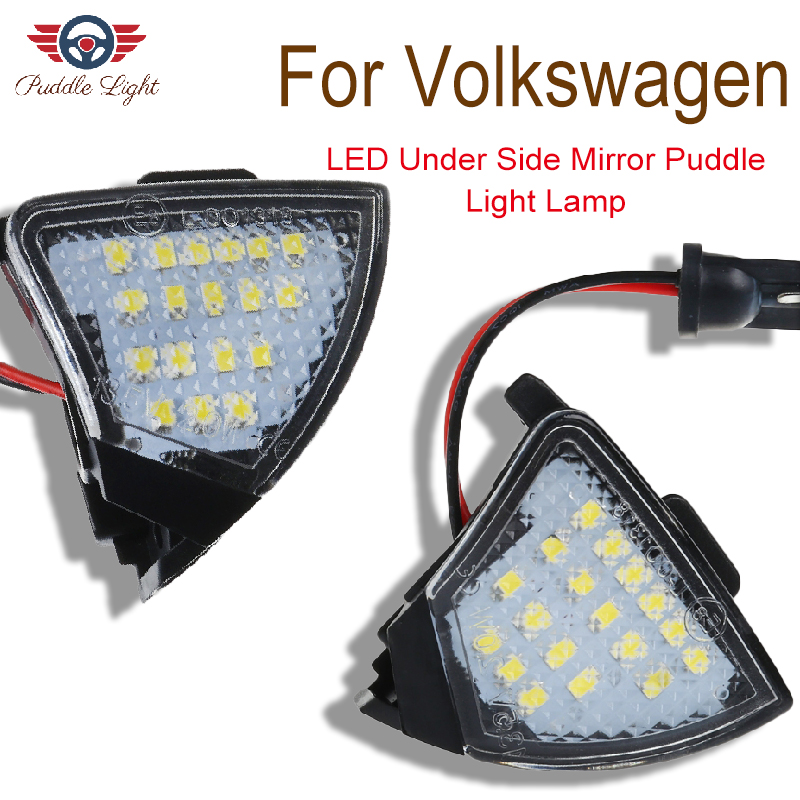Car <font><b>LED</b></font> Under Side Mirror <font><b>Light</b></font> Puddle Lamp for VW <font><b>Golf</b></font> <font><b>5</b></font> Passat B6 3C B5 CC Plus Eos Jetta Sharan Tourn Rabbit Skoda Superb image