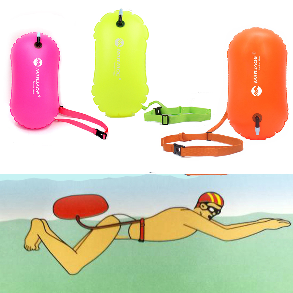 Outdoor Thickened PVC Swimming Buoy Safety Float Air Dry Bag Tow Float Swimming Inflatable Flotation Bag  Lifebelt Water Sports