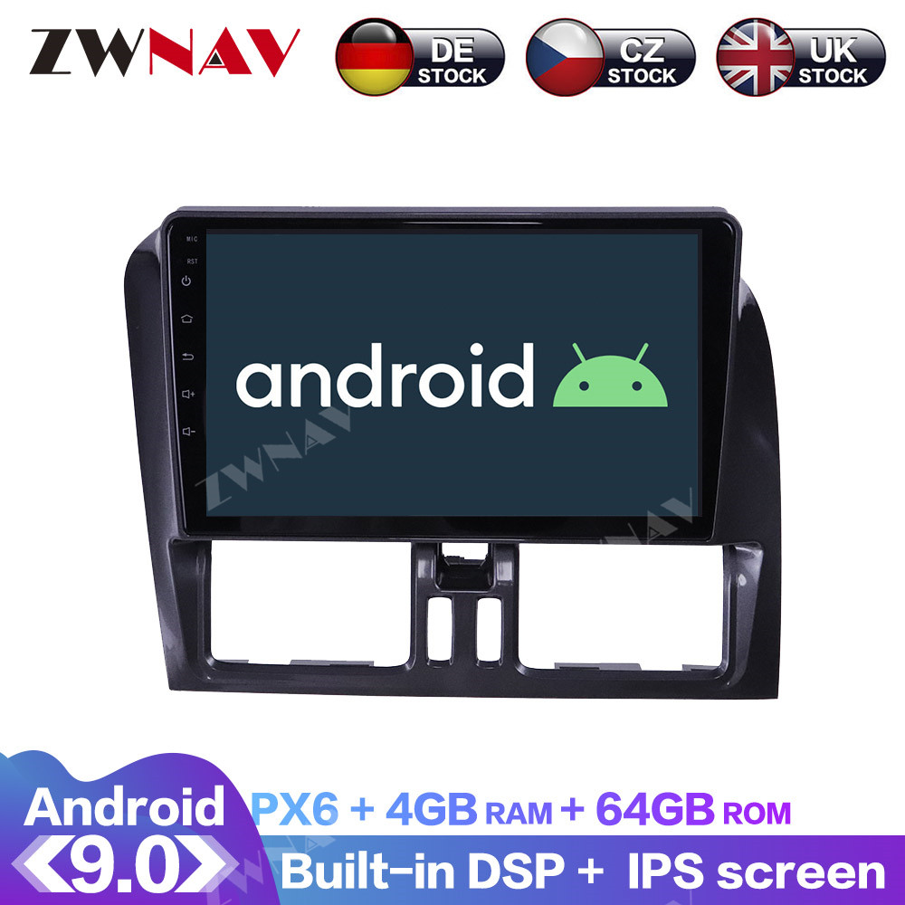 Android 9.0 With DSP Carplay IPS Screen For Volvo XC60 2009 2010 2011 2012 RDS Car GPS Navigation Radio DVD Player Multimedia|Car Multimedia Player|   - AliExpress