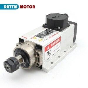 Image 3 - DE Square 2.2kw Air cooled CNC spindle motor 220V 24000rpm ER20 4 bearings & Fuling VFD Inverter 220V & 4pcs ER20 Quality collet