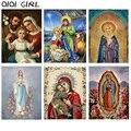 Алмазная вышивка, полноформатная алмазная живопись, Дева Мария, картина стразы, Алмазная мозаика, икона Иисуса, искусство