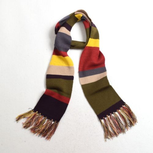Dr Doctor Who Cosplay Fourth 4th Long Knitted Tassels Striped Scarf Deluxe 12/'