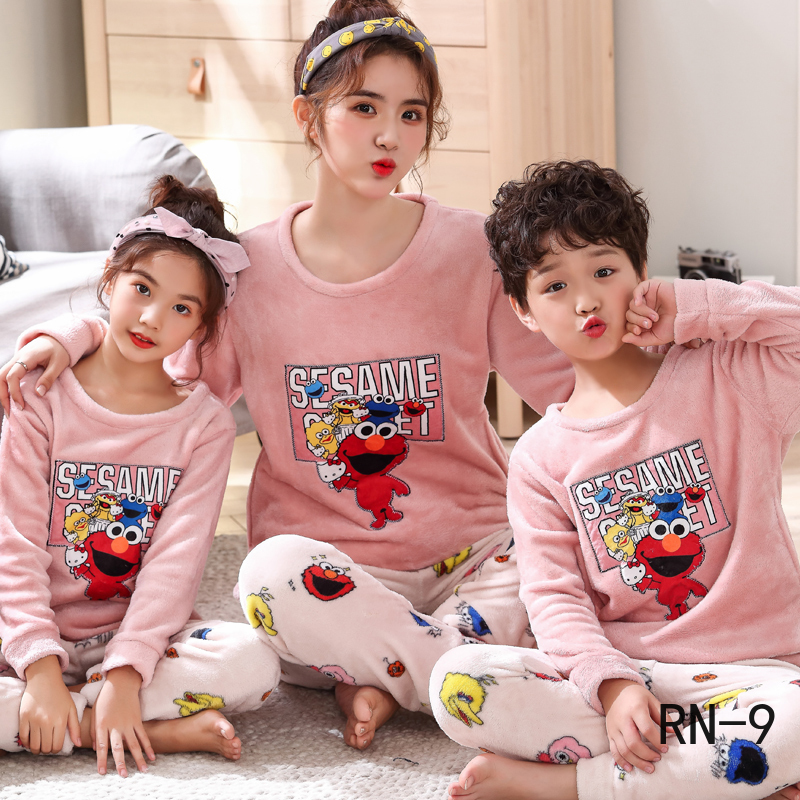 Pajamas Matching-Outfits Christmas Family Winter Sleepwear Girls' Mommy Cartoon And Children