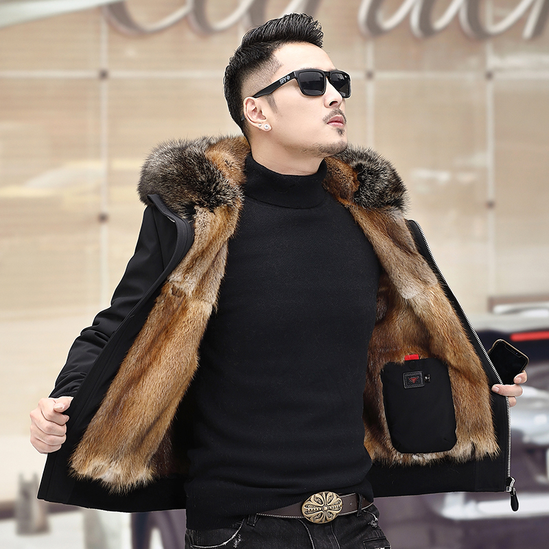 2019 Winter New Style Clothes Men's Fur Coat Mink Coat Men