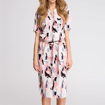 Dress 2020 Boho Print Short Sleeve  3