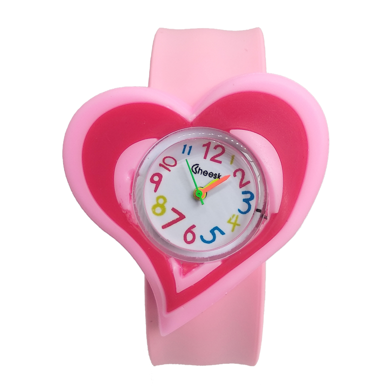 Soft Silicone Strap Love Heart Watch Children Kids Quartz Watches Sport Casual Bendable Rubber Strap Watch For Girls Boys Gift