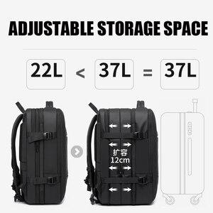 Image 3 - 45L 拡張大容量トラベルバックパック男性 15.6 インチのラップトップバックパック旅行 faa 飛行承認ウィークエンダー女性のため