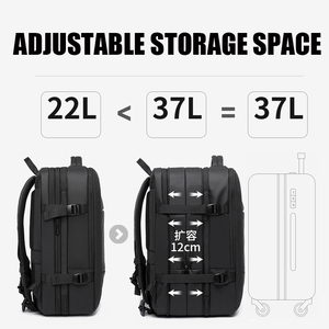 Image 3 - 45L Expandable Large Capacity Travel Backpack Men 15.6 inch Laptop Backpack Travel FAA Flight Approved Weekender Bag for women