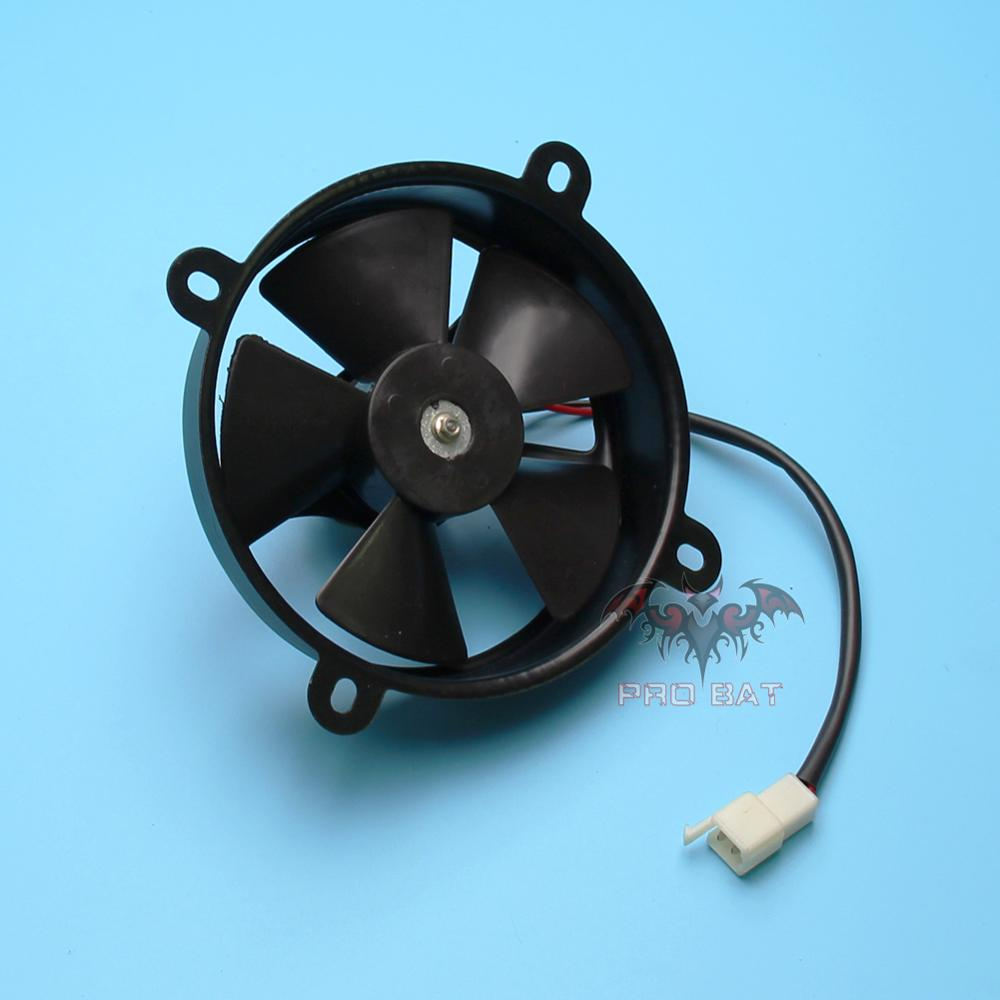12V 6 inch Thermo Radiator Electric Cooling Fan For 150c 200cc 250cc Pit Trial Quad Dirt Bike ATV Buggy PRO BAT New
