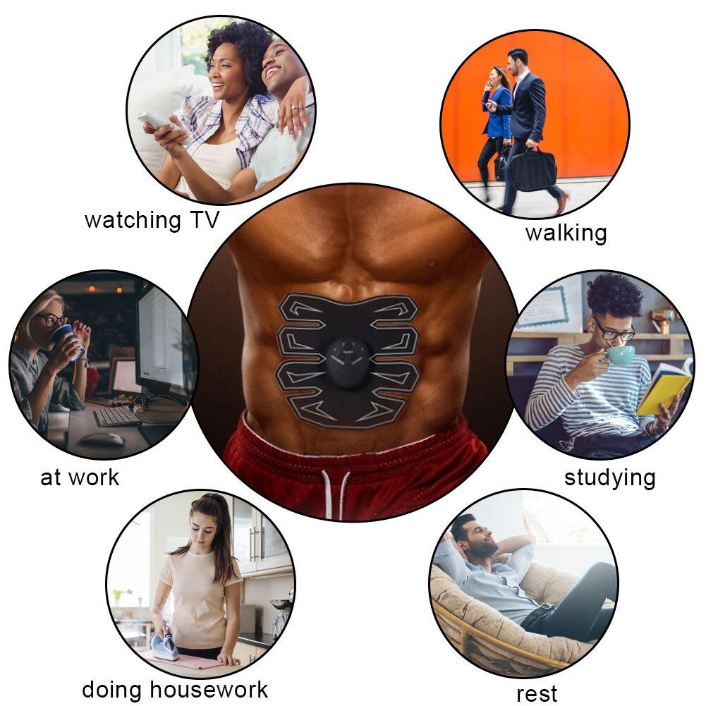 Живот Мышцы Патчи Ленивый Люди Фитнес Наклейки Умный Фитнес Инструмент На улице Офис Дом Фитнес Оборудование