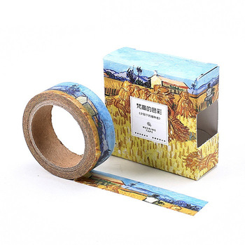 8 pcs/Lot  Oil painting paper washi tapes Starry Impressionis 15mm*7m masking tape for diary album scrapbooking FJ186