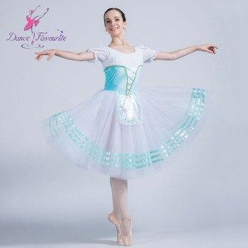 Pale Blue Velvet with White Spandex Top Bodice Ballet Tutu Romantic Dance Costumes Short Sleeve Chiffion Tutu Dancewear