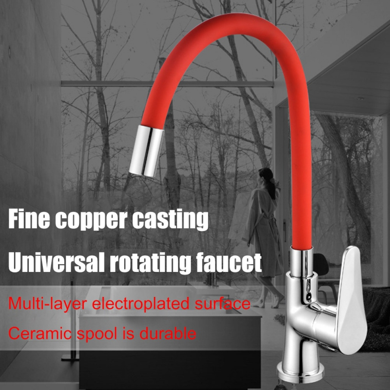 Multicolor Copper Universal Cold And Hot Water Faucet 360 Degrees Rotating Single Hole Kitchen Faucet 360 Degrees Rotatabl Hot