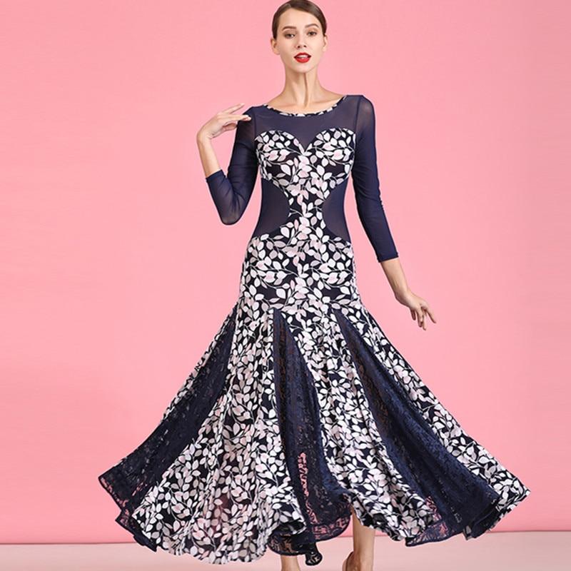 Ballroom Dance Competition Dress Waltz Standard Dance Dress for Ballroom Dancing Print Waltz Dress Tango Spanish Dress Flamengo