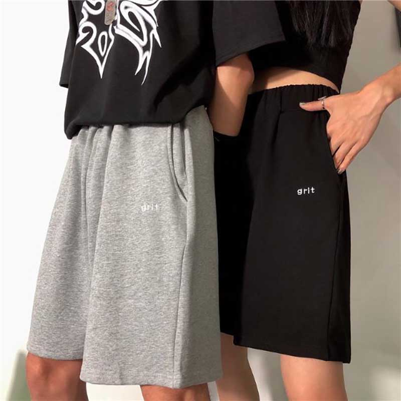 NiceMix Summer Sports Capri Hot Pants Wome Cotton Thin Breathable Sports Trousers Middle Pants Plus-size Casual Capris Loose
