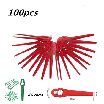 100Pcs For Florabest LIDL FRTA 20 A1 Lidl IAN 282232 Replacement Plastic Cutter Blades For Florabest Grass Trimmer Brushcutte