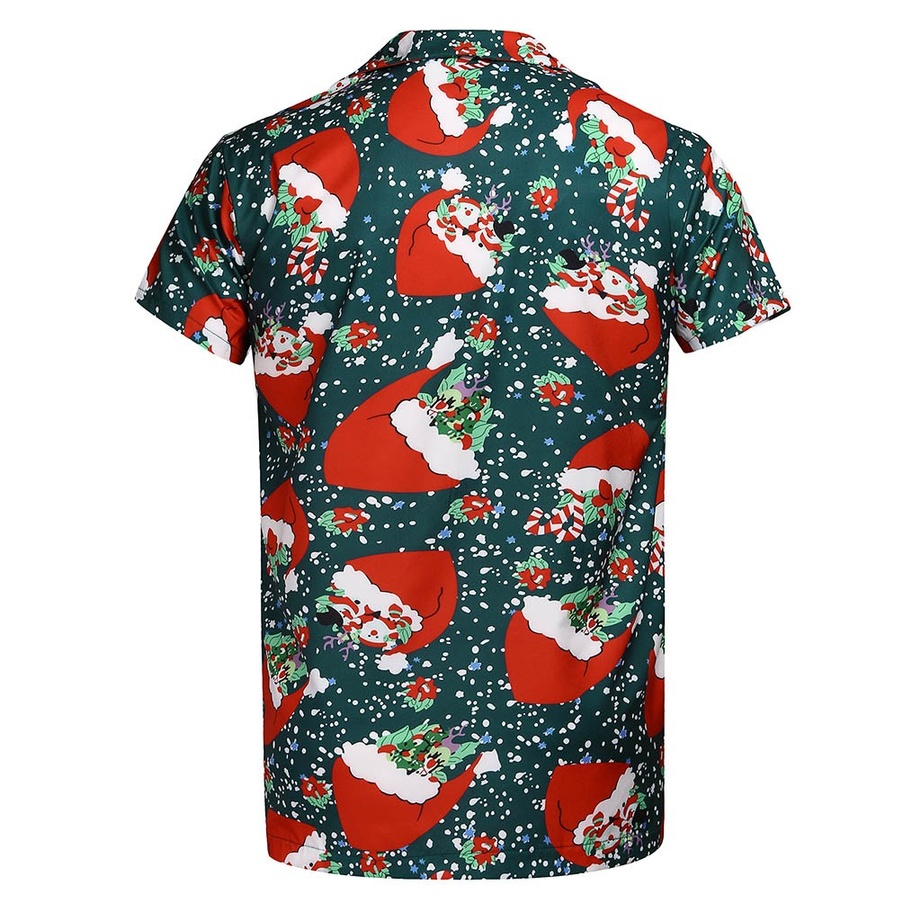 Christmas Men Santa Claus Printing 3D Hawaiian Shirt