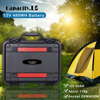 12V200AH LiFePO4 lithium battery pack outdoor camping RV solar battery Ship battery with built-in solar charging 5KW controller image