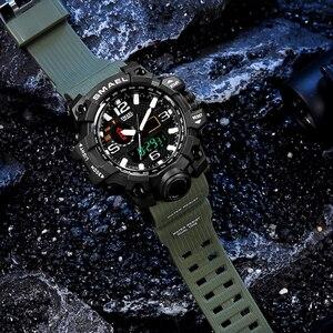 Image 5 - Men Military Watch 50m Waterproof Wristwatch LED Quartz Clock Sport Watch Male relogios masculino 1545 Sport Watch Men S Shock