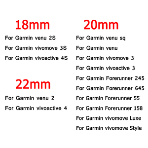 Image 2 - Wrist Strap For Garmin Venu 2 2S SQ Watch Band For Garmin vivomove 3 3S vivoactive 3 4 4S Forerunner 55 158 645 245 Bracelet