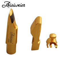 Profesjonalne Aisiweier tenorowy saksofon altowy metalowy ustnik złoty lakier ustnik Sax Aisiweier usta sztuk 56789 tanie tanio A-130