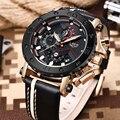 LIGE новые модные мужские s часы лучший бренд класса люкс Большой циферблат военные кварцевые часы кожаные водонепроницаемые спортивные хрон...