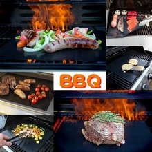 Reusable  Portable Non-Stick BBQ Grill Mat Pad Baking Sheet Outdoor Picnic Cooking Barbecue Oven Tool Bbq Accessories Gril Mat