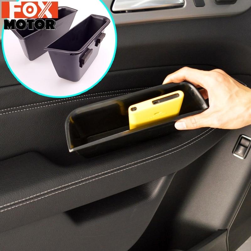2 adet FIT MERCEDES BENZ ML W166 GL X166 GLE GLS kapı kolu eldiven saklama kutusu kol dayanağı telefon tutucu ML350 ML400 GL450 GL500
