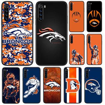 Rugby Denver Bronco Football Phone case For Xiaomi Redmi Note 4A 4X 5 6 6A 7 7A 8 8A 4 5 5A 8T Plus Pro black Etui art image