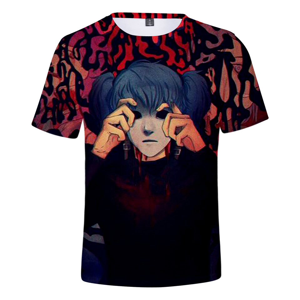 Sally Face T Shirt Strange Neighbors T-shirt Adventure Computer Games Tshirt Summer Men Boy Tops 3d Print Tee Streetwear Male image
