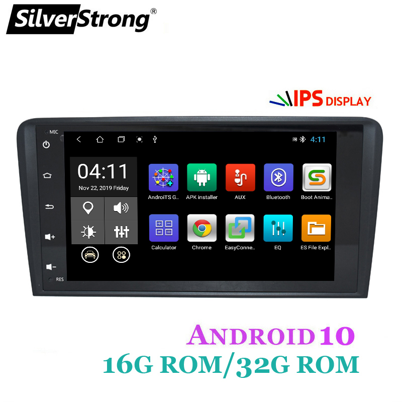 SilverStrong 2Din IPS Android10.0 Car Radio for Audi A4 RS4 2002 2011 A4 Car GPS stereo Navigation S4 2 DIN RADIO|Car Multimedia Player| - AliExpress